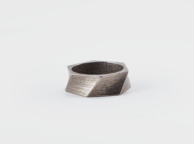 Twisted Ring in Stainless Steel: 7 / 54