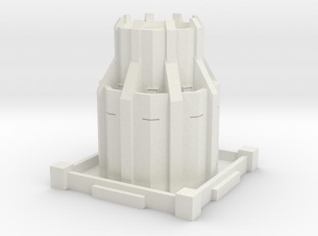 Alternative Steampunk Dystopian Defense Tower in White Strong & Flexible