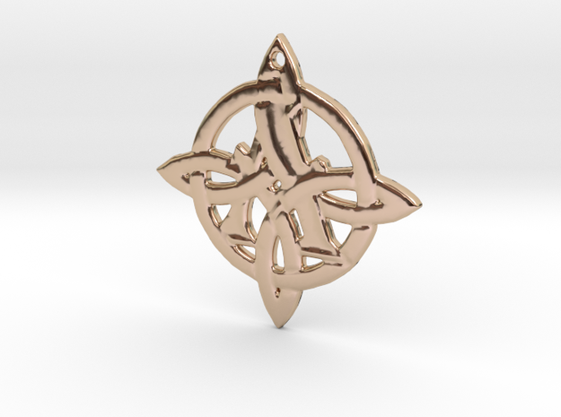 Celtic Initial A in 14k Rose Gold Plated