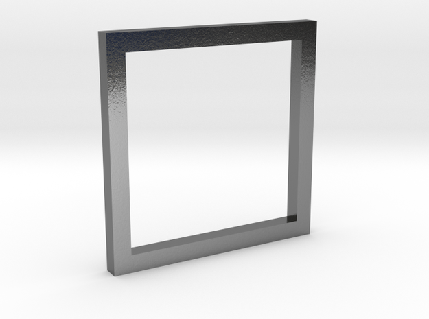 Simple Square Ring in Polished Silver
