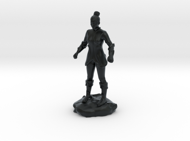 Female Human Fighter with Elven influenced armor.