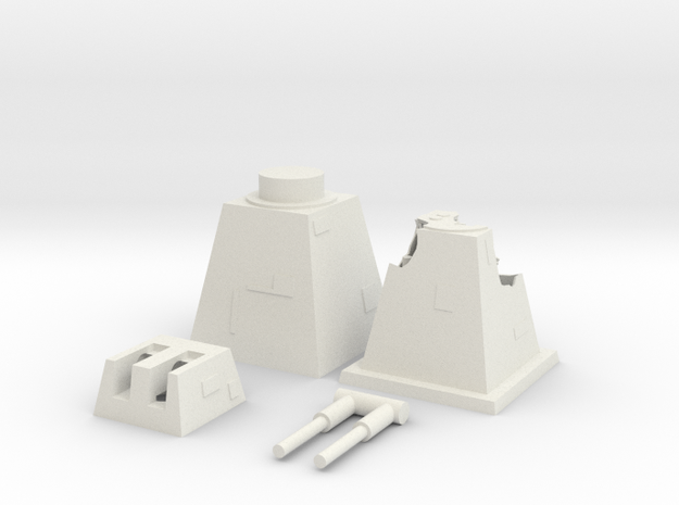 Mid- Turbo Laser Tower - Multi-part in White Natural Versatile Plastic