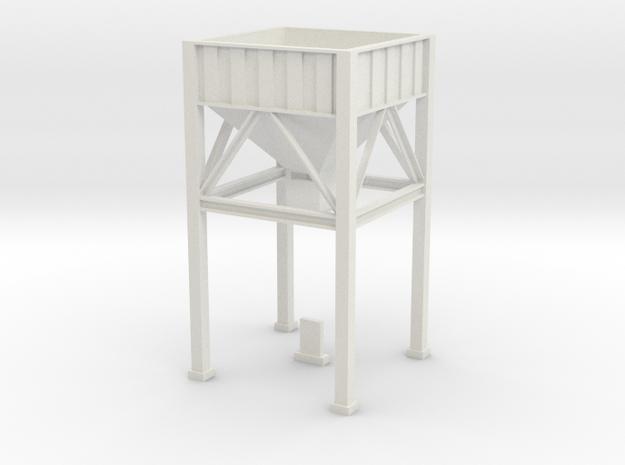 OO / HO Hopper in White Natural Versatile Plastic