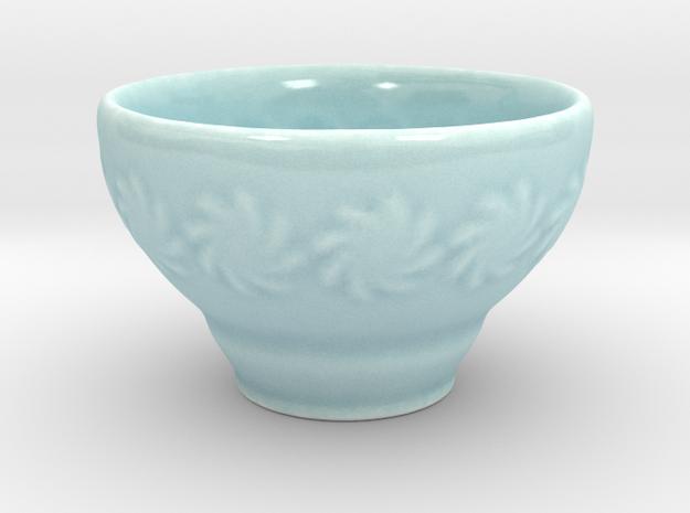 Guinomi (Sake Cup) in Gloss Celadon Green Porcelain