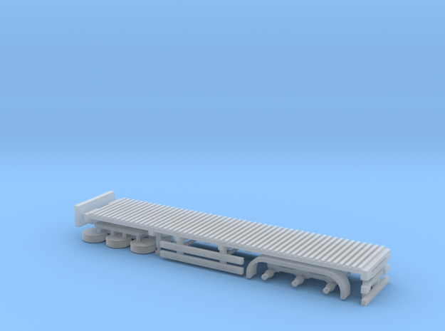 N Gauge Articulated Lorry Flat Trailer in Smooth Fine Detail Plastic