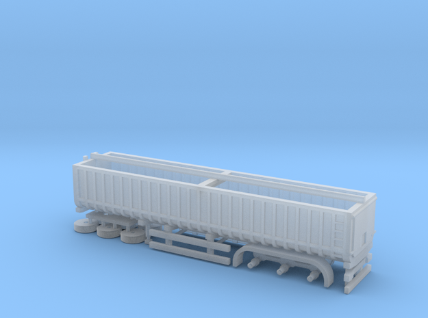 N Gauge Articulated Lorry Grain Trailer in Smooth Fine Detail Plastic
