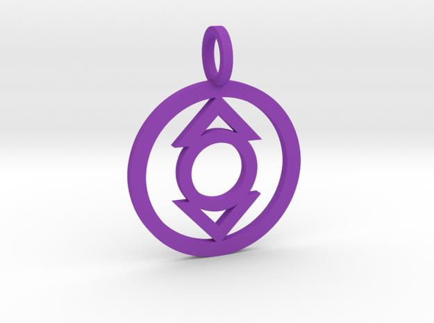 Indigo Tribe Pendant in Purple Strong & Flexible Polished