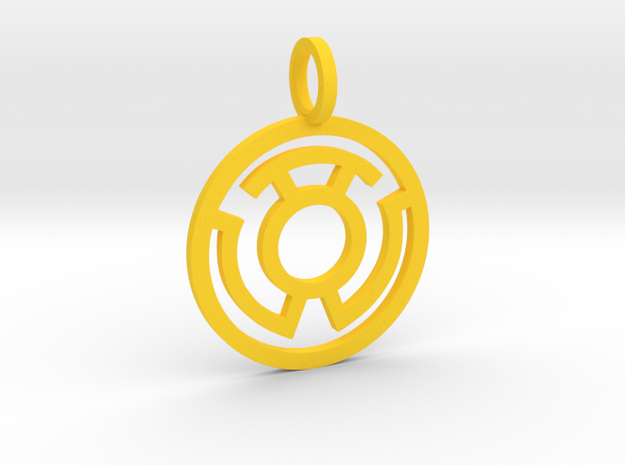 Yellow Lantern in Yellow Strong & Flexible Polished