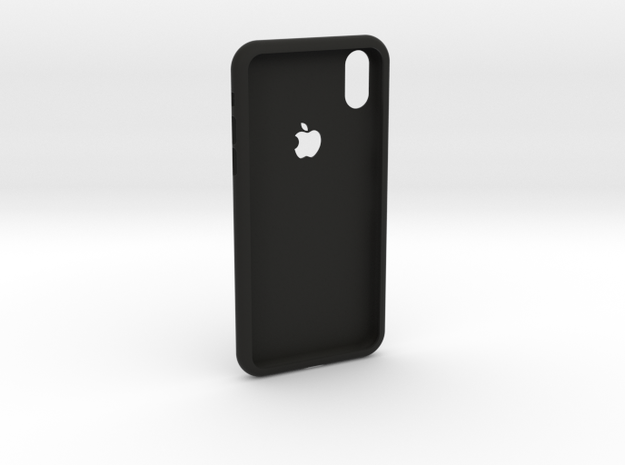 iphoneX case in Black Natural Versatile Plastic