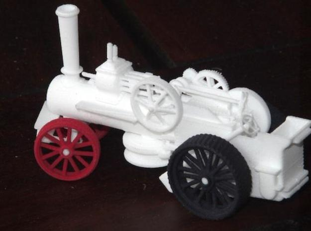 1000-1 Fowler Plough Engine Wheels 1:87 3d printed Engine with coloured wheels