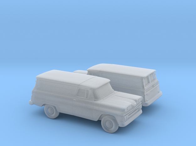 1/160 2X 1960/61 Chevy PanelVan Horizontal Devided in Frosted Ultra Detail