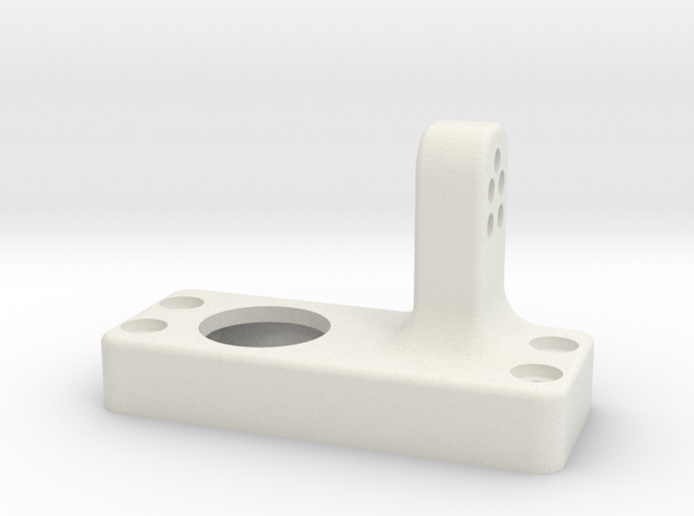 Driver side differential-front-upper-link-mount in White Natural Versatile Plastic