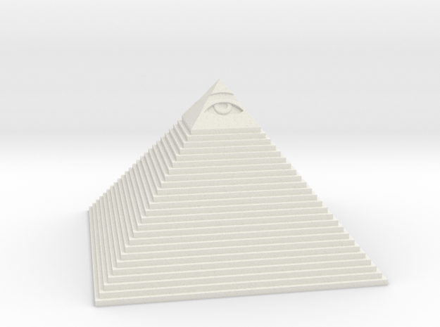 Pyramid with the eye of Masons