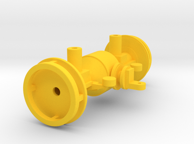1:32 Hinterachse K-700A in Yellow Processed Versatile Plastic: 1:32