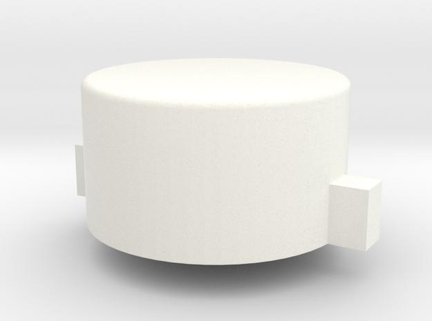 BoneClone CD32 - Red Button in White Processed Versatile Plastic