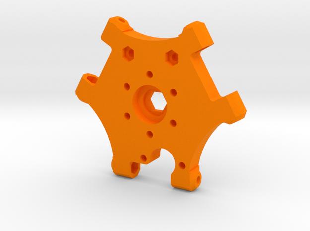 Kossel XL Hotendhalter 2 - Ndo Design in Orange Processed Versatile Plastic