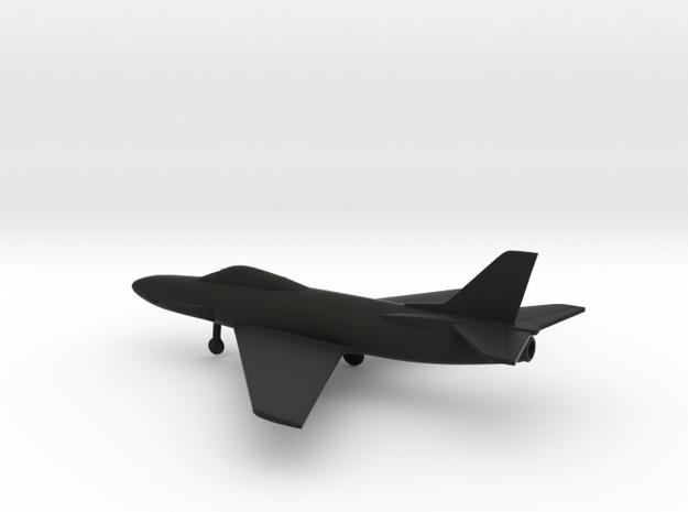 Saab J.32 Lansen in Black Natural Versatile Plastic: 1:200