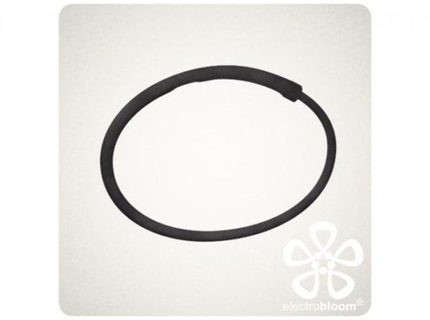 Snap bangle. 3d printed BLACK SNAP BANGLE