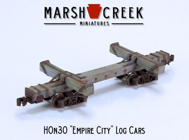 HOn30 Empire City Log Car in Frosted Extreme Detail