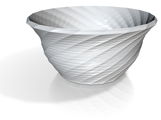 Twisted soup bowl more printable 3d printed