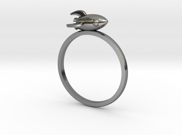 Mini Rocket Ring in Premium Silver