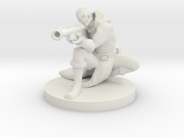 Warforged Gunslinger in White Natural Versatile Plastic
