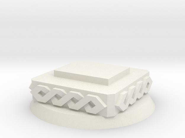 Modular Objective base [Space viking] 40mm bevel in White Natural Versatile Plastic