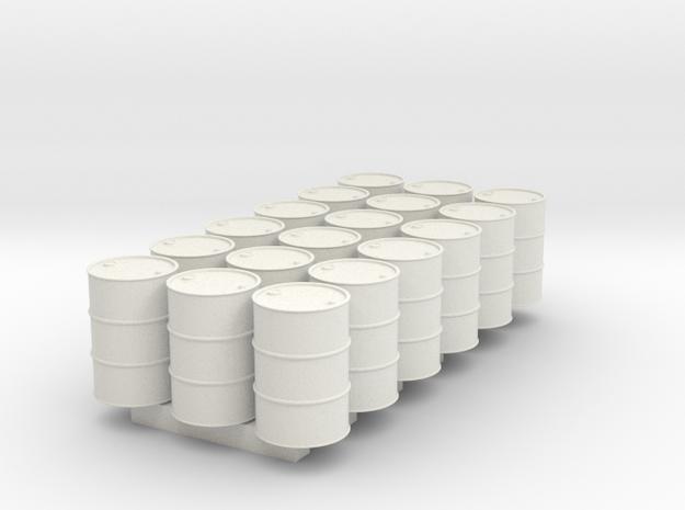 18 N scale oil drums