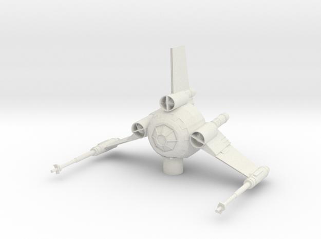 Tri Wing Fighter in White Natural Versatile Plastic