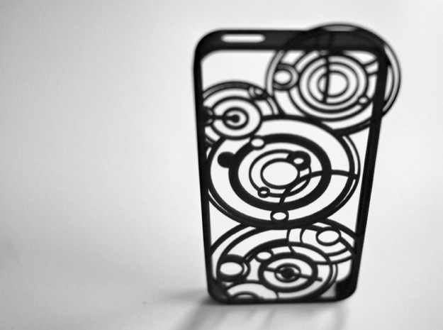 Doctor Who Gallifreyan Case for iPhone 5/5s in Black Strong & Flexible