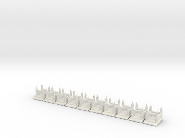 Huepfburg 10x.stl in White Natural Versatile Plastic