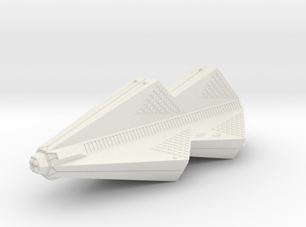 3788 Scale Tholian Pocket Battleship SRZ in White Natural Versatile Plastic
