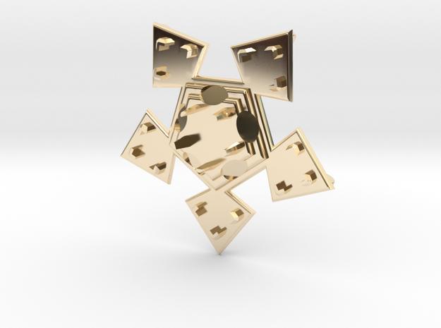 Pendant Veste in 14k Gold Plated Brass