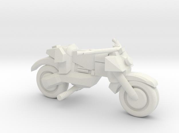 Street Bike #2 in White Natural Versatile Plastic