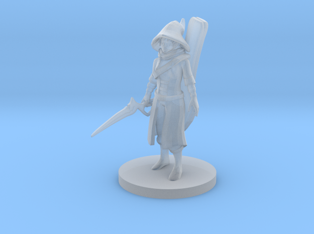 Warlock Bard in Smooth Fine Detail Plastic