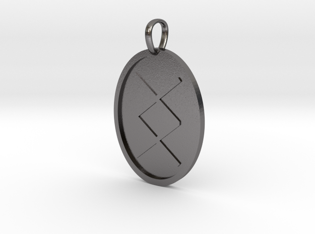 Ing Rune (Anglo Saxon) in Polished Nickel Steel