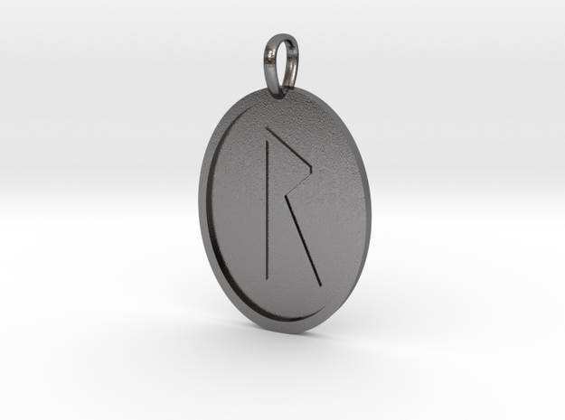 Rad Rune (Anglo Saxon) in Polished Nickel Steel