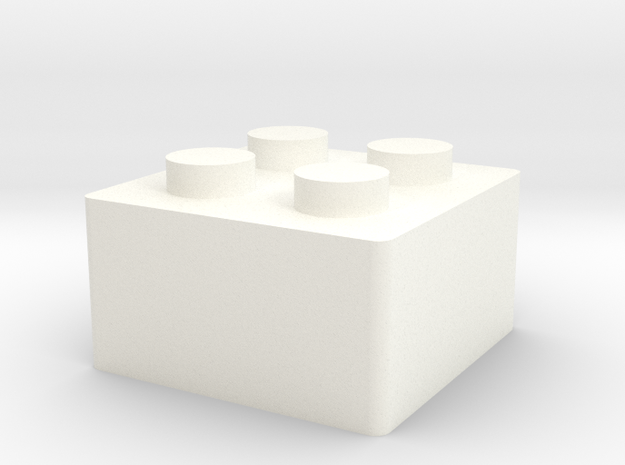 LegoKeycap in White Strong & Flexible Polished