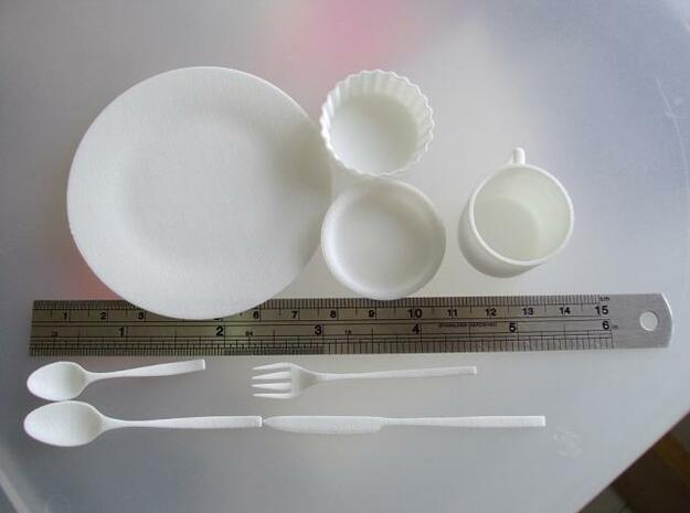 dishes 1/3 scale 3d printed Description
