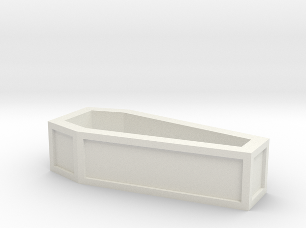 coffin_without_lid in White Strong & Flexible
