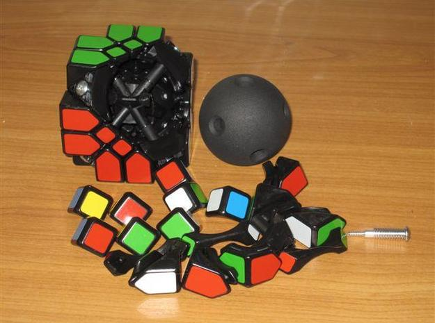 Mosaic Cube Sphere Core 3d printed Disassembling Mosaic Cube