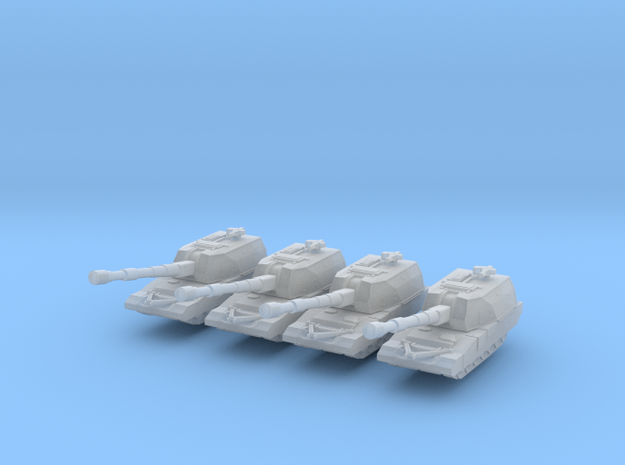 Russian Koalitsiya 2S35 1:700 section in Smooth Fine Detail Plastic
