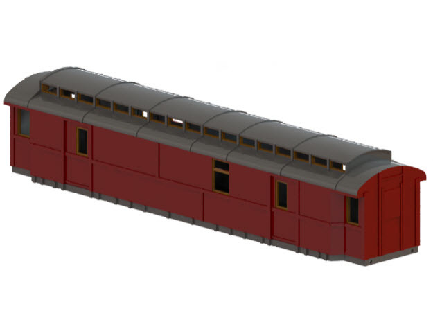 Do5 - Swedish passenger wagon in White Natural Versatile Plastic