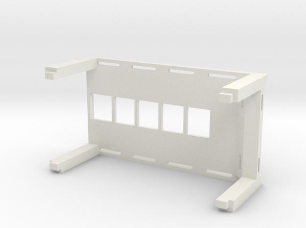 Stackable 1:64 Car Display Rack in White Natural Versatile Plastic