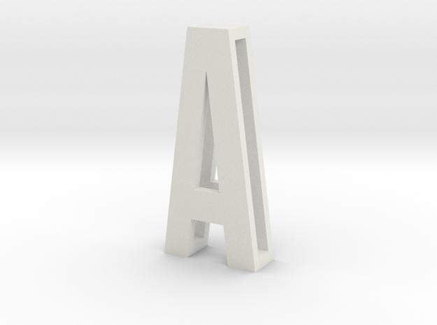 Choker Slide Letters (4cm) - Letter A in White Natural Versatile Plastic