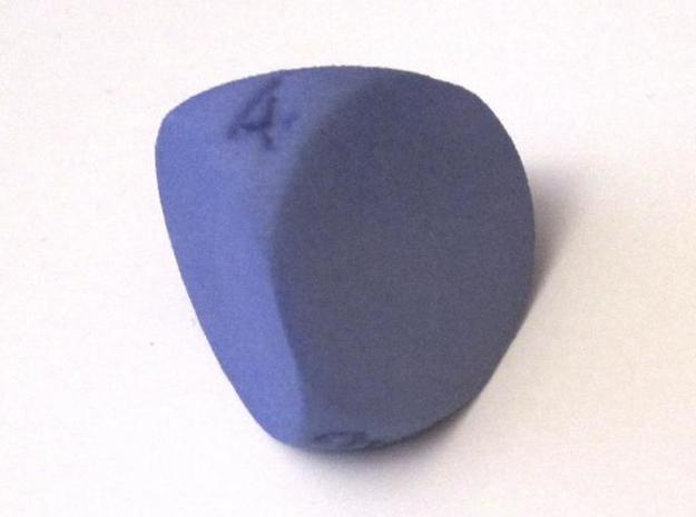 D4 Sphere Dice in Blue Strong & Flexible Polished