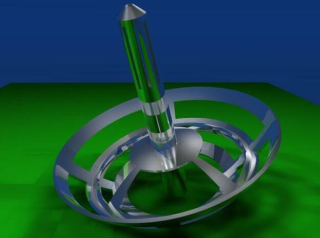 Second Harmony of the Spheres 3d printed Blender render single