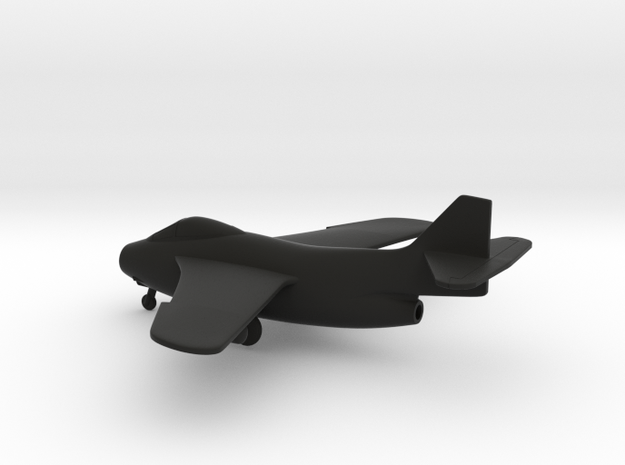 Saab J.29F Tunnan in Black Natural Versatile Plastic: 1:160 - N