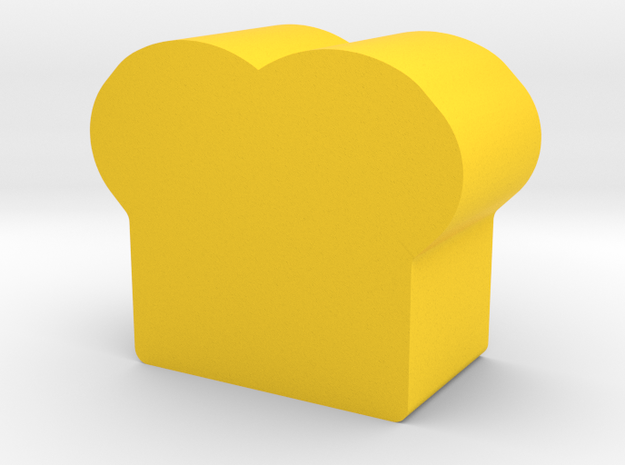 Bread Game Piece in Yellow Processed Versatile Plastic