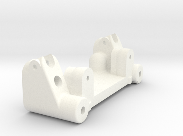NIX72071 - Bulkhead for RC10T nose in White Processed Versatile Plastic